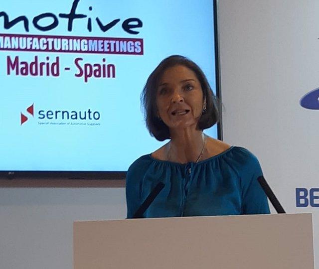 Reyes Maroto, ministra de Industria, Comercio y Turismo, en Automotive Meetings Madrid