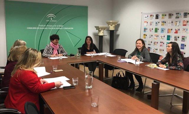 La directora del Instituto Andaluz de la Mujer (IAM), en la Comisión Permanente del Consejo Andaluz de Participación de las Mujeres (CAPM).