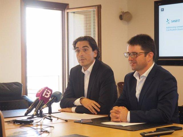 El CEO de Sanifit, Joan Perelló y el director general de Innovación e Investigación, Pep Lluís Pons.