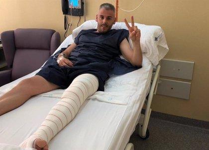 Miguelín, operado del menisco de la pierna izquierda
