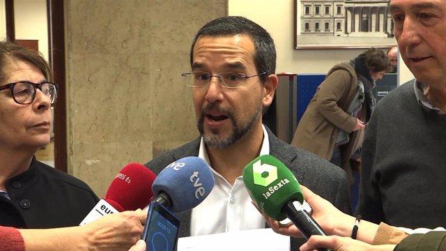 El primer secretario de Organización de Podemos, Sergio Pascual