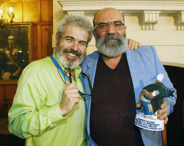Paco Delgado (dcha) y Lorenzo Caprile en la UIMP