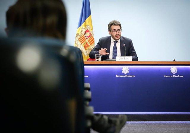 El ministre Portaveu andorrà, Èric Jover