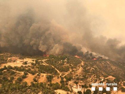 El incendio de Torre de l'Espanyol afecta una superficie de 2.500 hectáreas