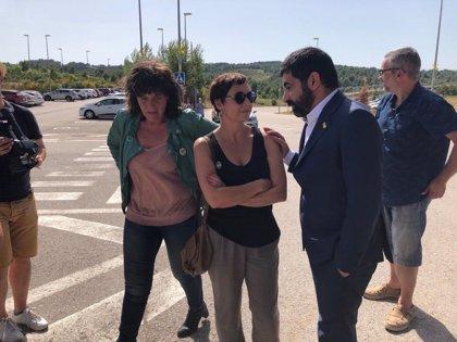 El conseller Bosch visita a Forcadell y El Homrani y Jordà a Bassa