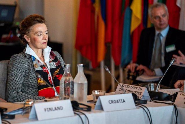 La ministra de Exteriores de Croacia y nueva secretaria general del Consejo de Europa, Marija Pejcinovic Buric