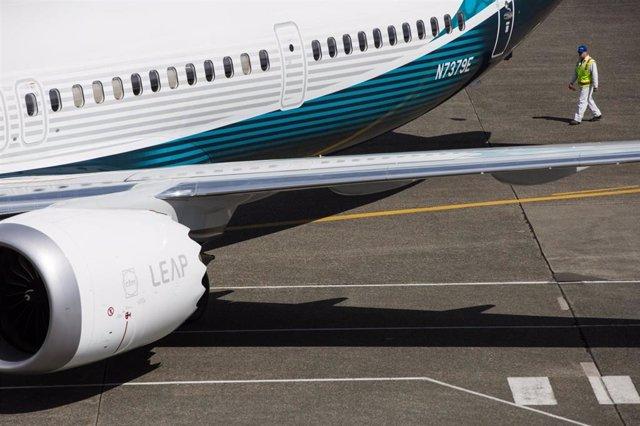 Un avión Boeing 737 MAX en Seattle
