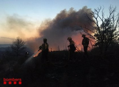 La Generalitat eleva a 3.500 las hectáreas afectadas por el fuego de Torre de l'Espanyol (Tarragona)