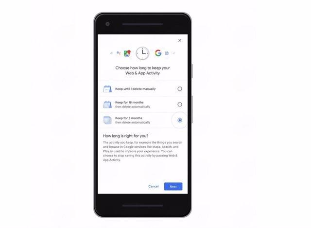 Autoeliminación historial de Google