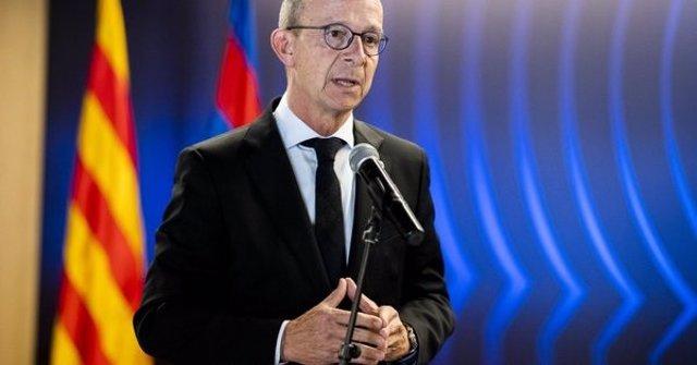 El vicepresidente primero del FC Barcelona, Jordi Cardoner, en un acto