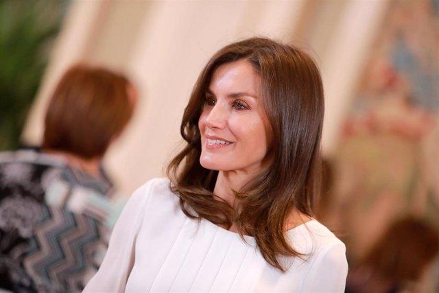 La Reina Letizia en las audiencias de la Zarzuela