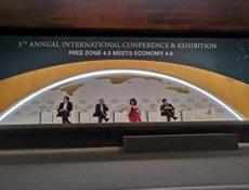 Montero i Aragonès inauguren la cinquena edició del Congrés Mundial de Zones Franques (EUROPA PRESS)