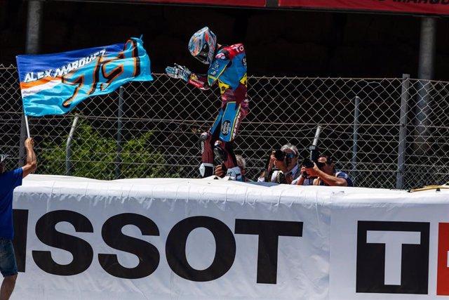 Alex Márquez celebra su victoria en el Gran Premio de Catalunya