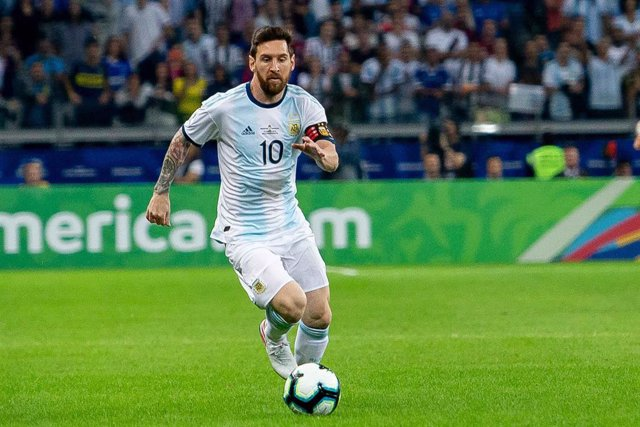 19 June 2019, Brazil, Belo Horizonte: Argentina's Lionel MEssia in action during the 2019 Copa America Group B soccer match between Argentina and Paraguay at the Mineiroo stadium. Photo: Alexandre Brum/AM Press via ZUMA Wire/dpa