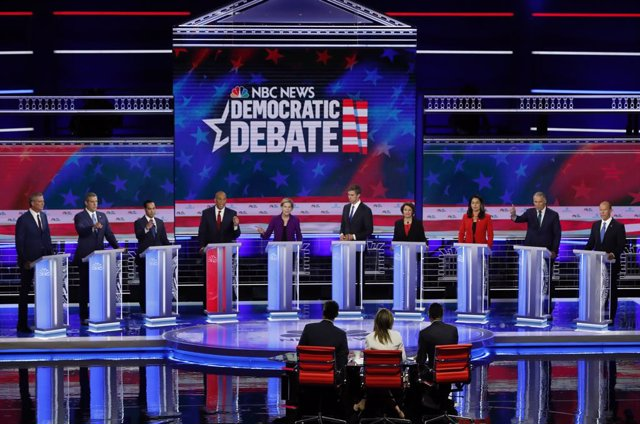 Candidates participate in the first U.S. 2020 presidential election Democratic candidates debate in Miami, Florida, U.S.,