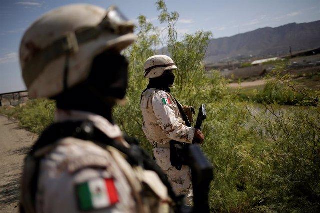 Agentes de la Guardia Nacional de México en Ciudad Juárez