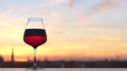Copa de vino, imagen de recurso
