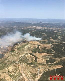 Incendi a la Fatarella (Tarragona).