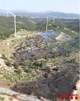 Incendi a la Ribera d'Ebre