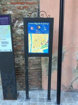 Señalética sobre el camino mozárabe en Málaga