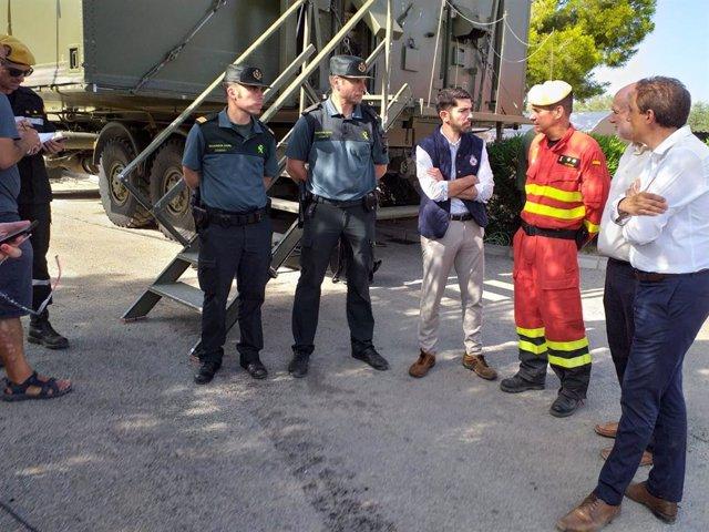 El director general de Protección Civil i Emergències, Alberto Herrera, en l'incendi de La Ribera d'Ebre