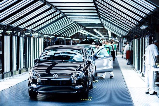 Planta de fabricación en cadena de la empresa Volkswagen en Landaben (Navarra).