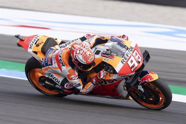 El piloto de MotoGP Marc Márquez (Repsol Honda) en Assen durante el Gran Premio de Holanda 2019
