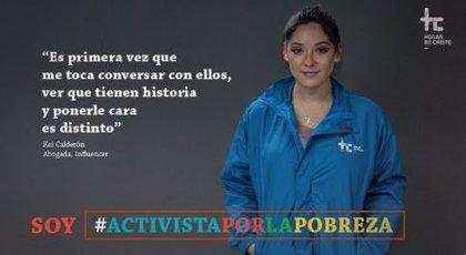 Critican duramente a la influencer Kel Calderón por una frase en una campaña para ayudar a los indigentes chilenos
