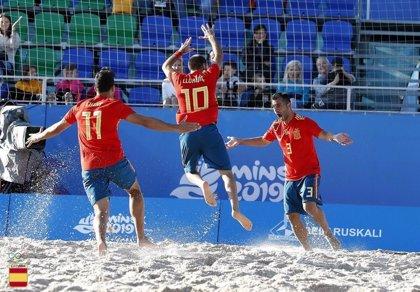 Gabriel Escobar y la selección de fútbol playa optarán al oro en Minsk