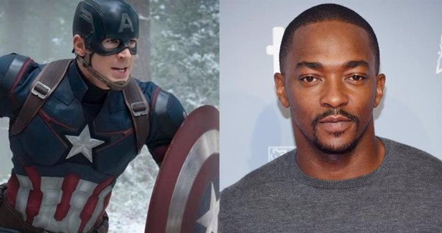 Capitán América y Anthony Mackie