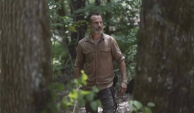 El actor Rick Grimes en The Walking Dead