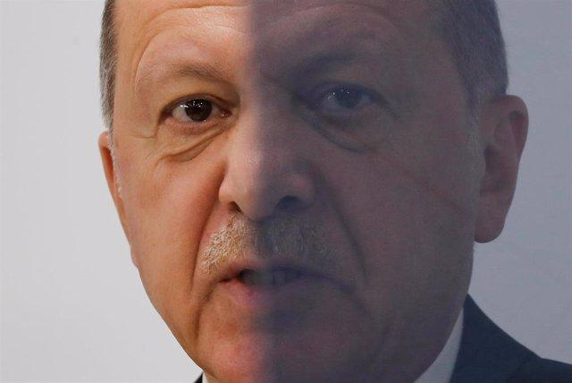 Recep Tayyip Erdogan en la cumbre de Osaka/G20
