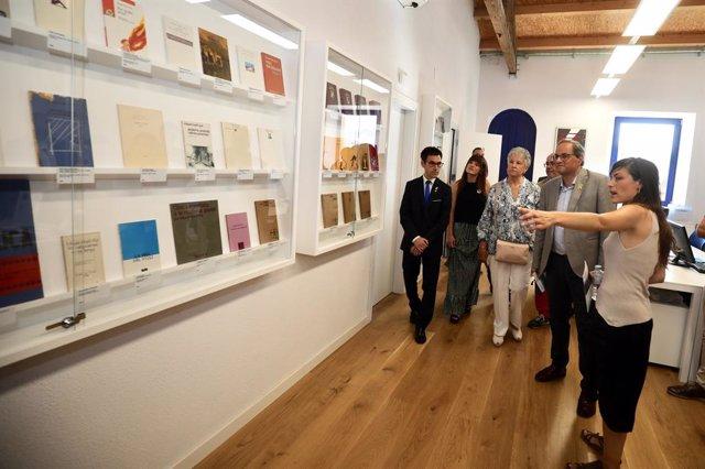 El president de la Generalitat, Quim Torra, inaugura la Fundació Miquel Martí i Pol a Roda de Ter (Barcelona).