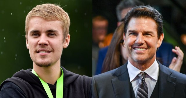 El cantante Justin Bieber y el actor Tom Cruise