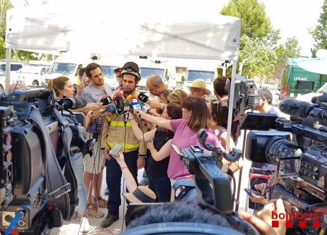 L'inspector Antoni Ramos atén als mitjans