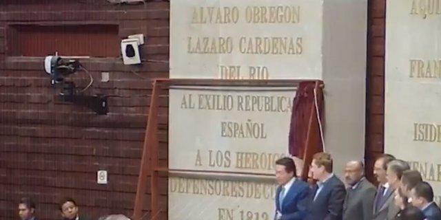 Homenaje al exilio republicano expañol en México