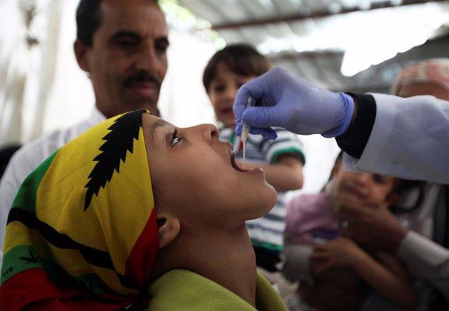 Campaña de vacunación en Saná (Yemen)