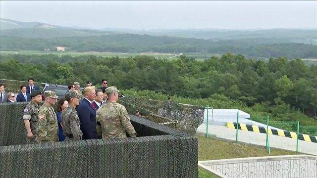 Donald Trump y Moon Jae In en la Zona Desmilitarizada
