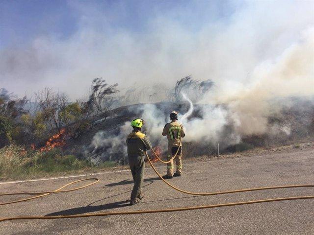 El incendio en Villanueva de Huerva ha quedado controlado esta noche.