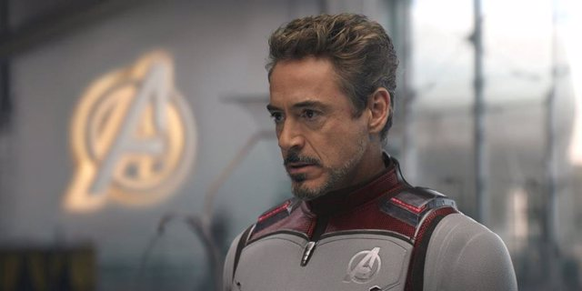 Robert Downey Jr (Iron Man) en Vengadores: Endgame