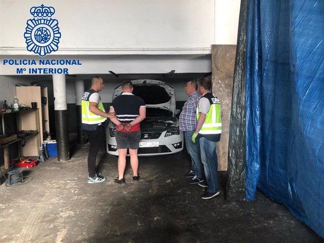 Desmantelado en Madrid un clan familiar dedicado al robo y despiece de vehículos