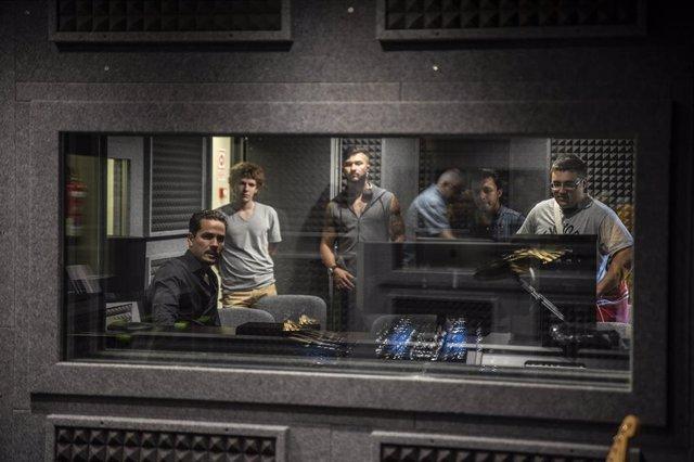 Cabina de grabación de la escuela de música electrónica Microfusa abierta recientemente en Madrid.