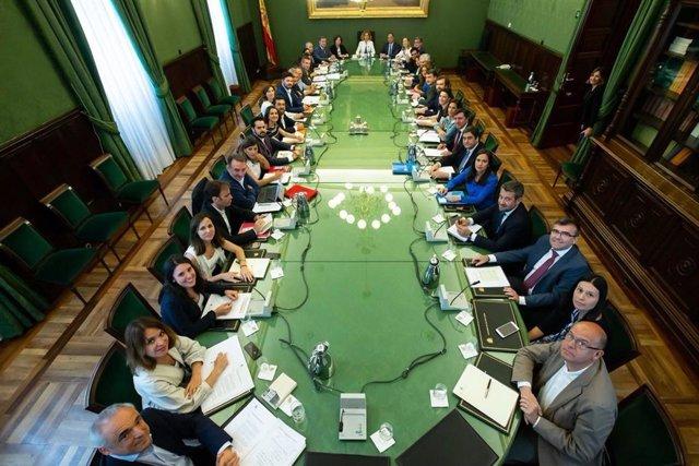 Reunión de la Junta de Portavoces del Congreso presidida por Meritxell Batet