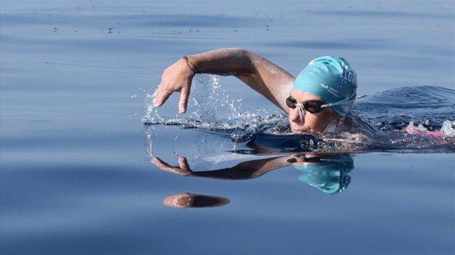 La nadadora Tita Llorens, en una imagen de archivo.