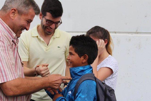 Llegan a Huelva los niños saharauis del programa 'Vacaciones en Paz'