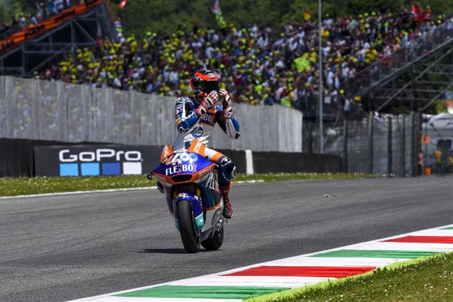 40 FERNANDEZ Augusto (Spa) Pons HP40 (Kalex), action during Moto 2 ITALY motorcycle Grand Prix 2019 at the Circuit of Mugello from May 31 to June 2, 2019 in Italy - Photo Studio Milagro / DPPI