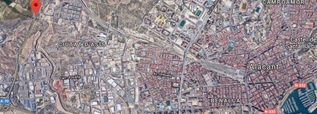 Distancia de la A70 y el centro de Alicante