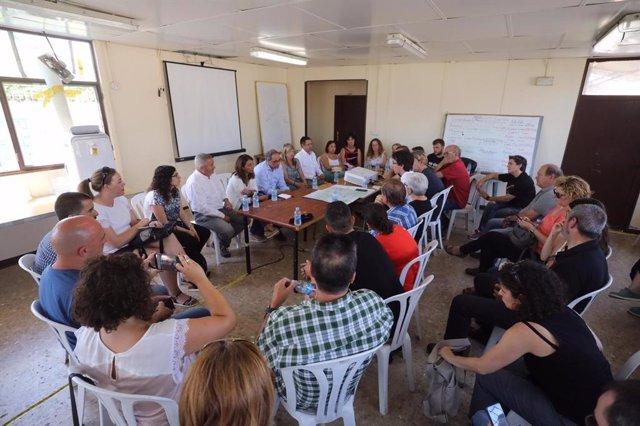 Reunió de les administracions per determinar les actuacions davant l'incendi de la Ribera d'Ebre (Tarragona)