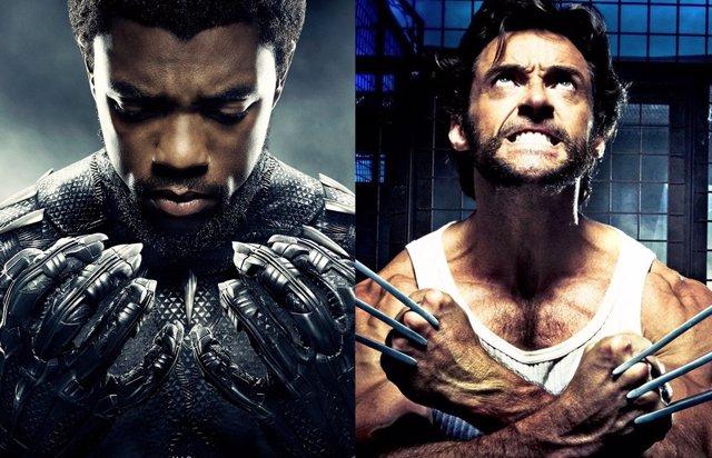 Carteles promocionales de Black Panther y Lobezno