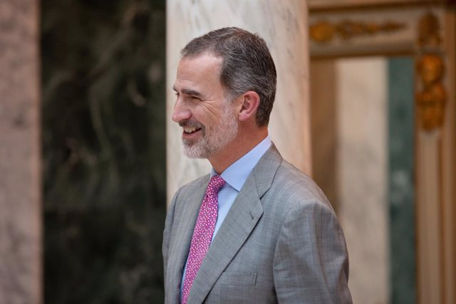 El Rei Felipe VI durant la seva audiència amb el president de la patronal catalana Foment del Treball.